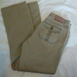 DKNY 4 Tan Boot Cut Jeans